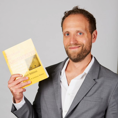 Christophe Collard with book
