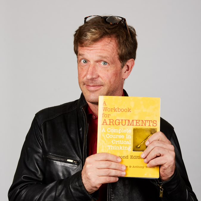 Douglas Atkinson with book